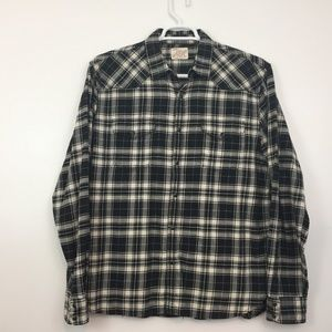 Lucky Brand Men's Shirt Size L Pearl Snap